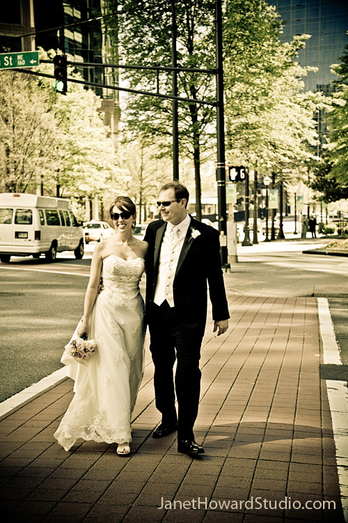 Bride and Groom on 14th and Peachtree
