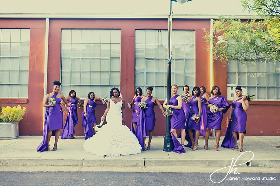 Bridesmaids at The Foundry at Puritan Mill