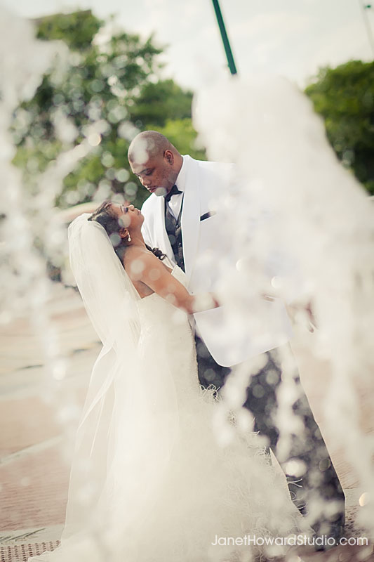 Atlanta Centennial Park Wedding Fountains