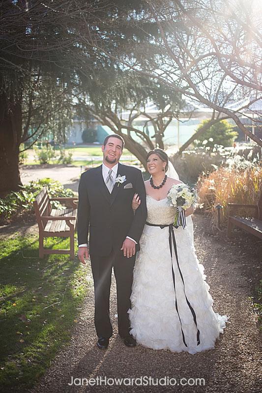 Bride and Groom at Villa Christina