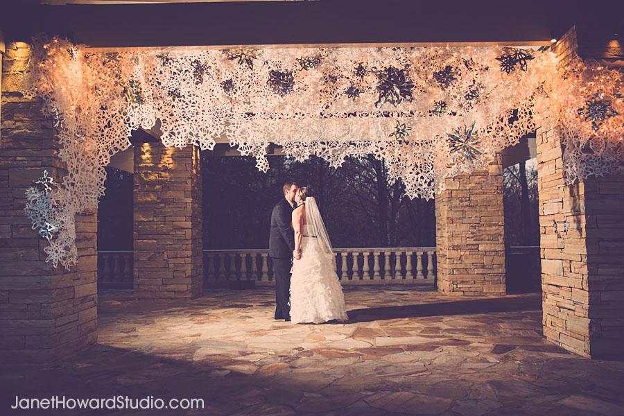 Snowflake wedding decor