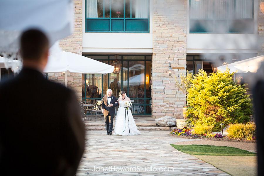 Ceremony entrance at Villa Christina