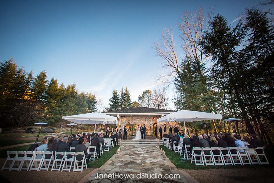 Wedding ceremony at Villa Christina