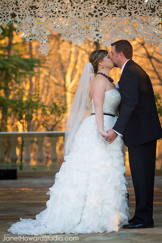 Ceremony kiss at Villa Christina