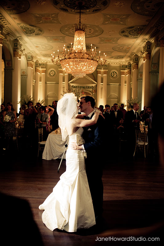 Bride and groom First dance at Biltmore
