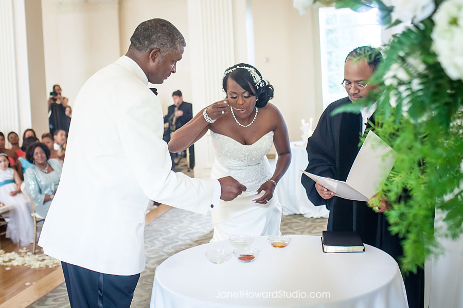 Tasting elements at Wedding Ceremony