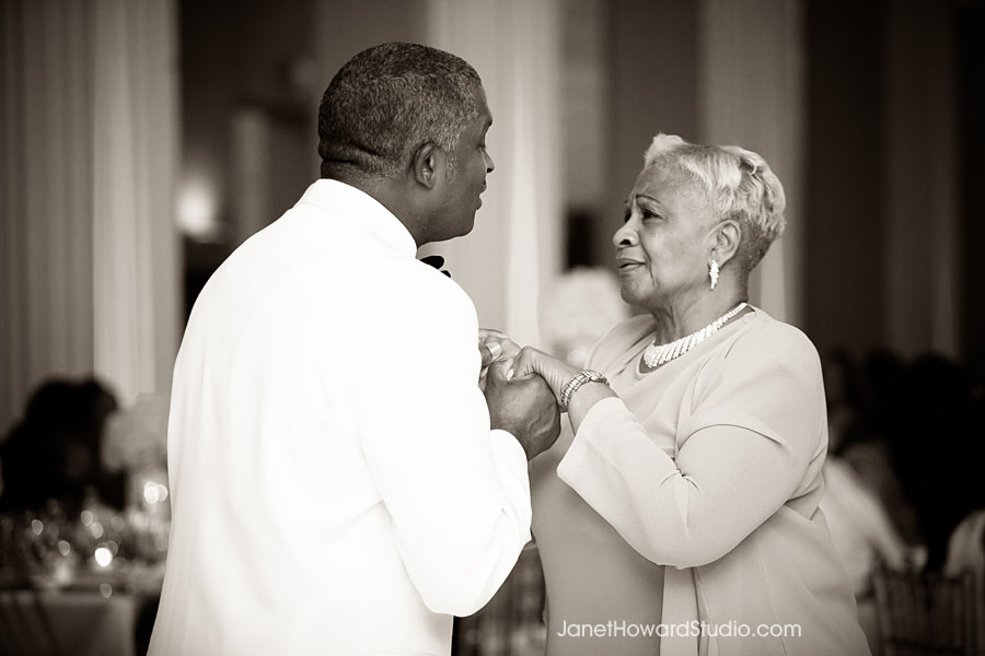 Mother Son dance at Atlanta Biltmore Ballroom wedding