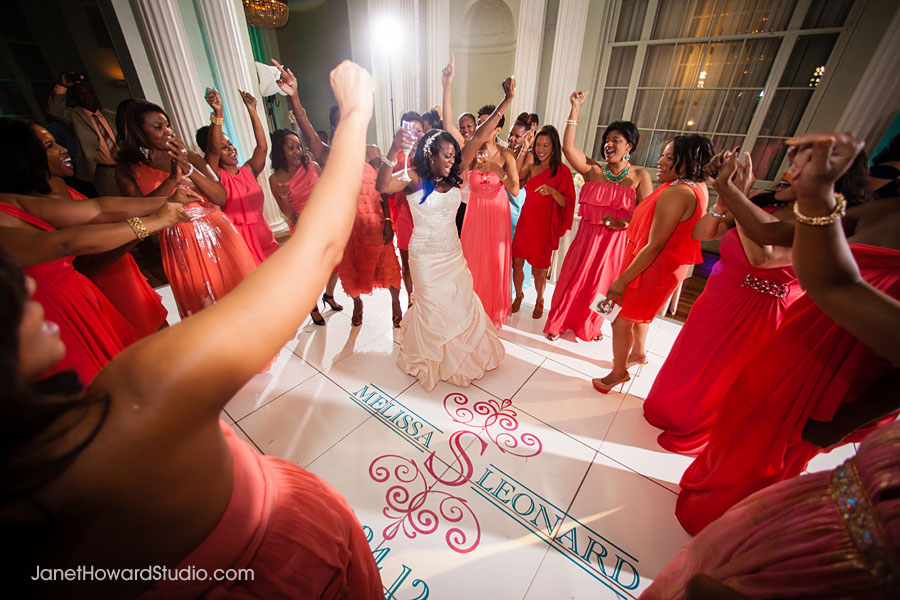 Bride dancing at Biltmore Ballrooms wedding reception