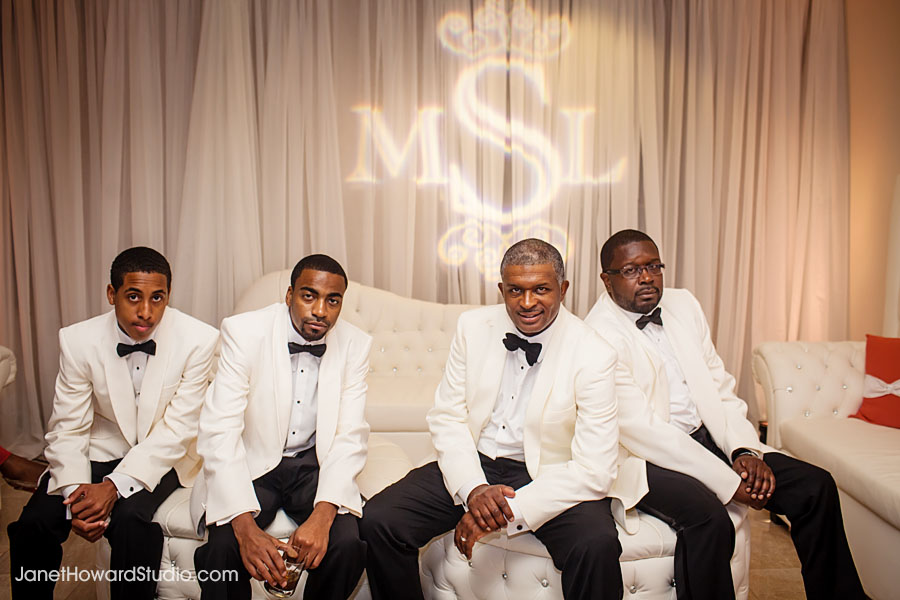 Groomsmen with Gobo