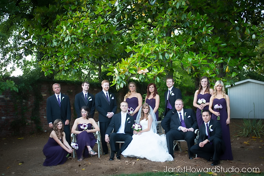 Wedding party at the Carl House