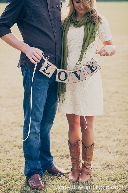 Love sign Piedmont Park Engagement Session