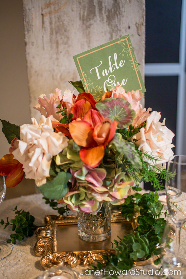 Floral by Blossoms, Table number by Julia's Poppies.