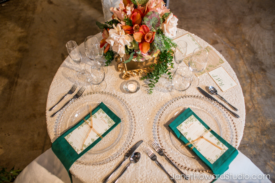 Table decor by It Takes Two Events, Menu by Julia's Poppies