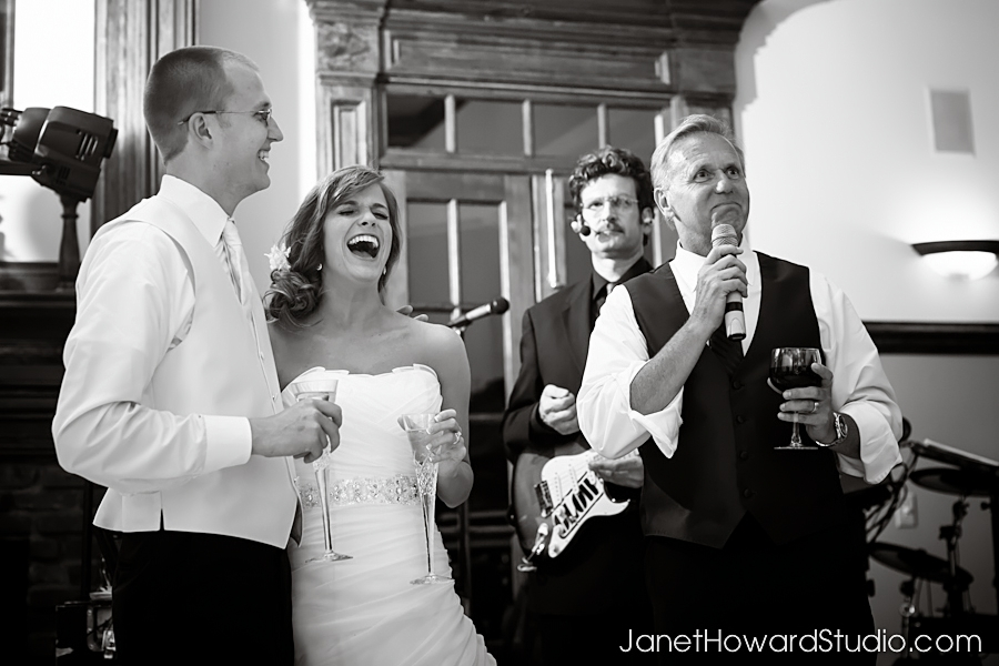 Toasts at The Carl House Wedding