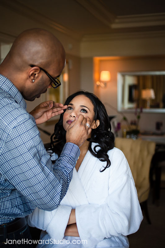 Bride at the St. Regis Atlanta.  Hair & Makeup by Scoobie West.