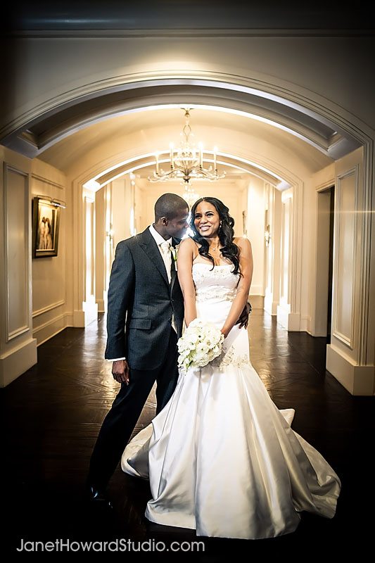 Bride and Groom at the St. Regis Atlanta