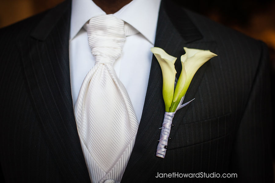 Groom boutonniere by Edge Design Group Atlanta