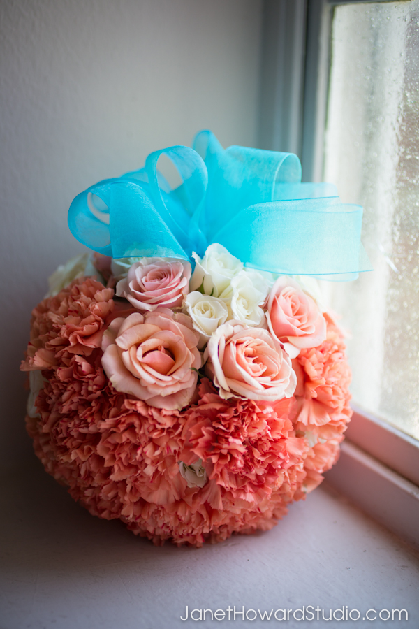 Flower girl pomander by Unique Floral Expressions
