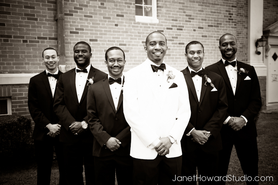 Groomsmen portraits at West Hunter Baptist Church