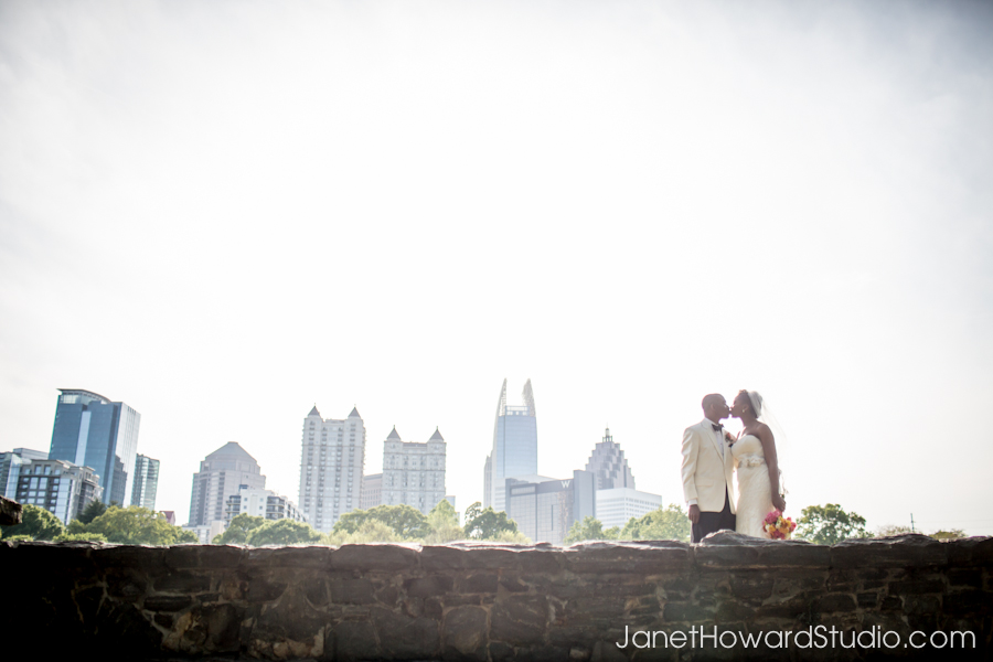Bride & Groom in Piedmont Park