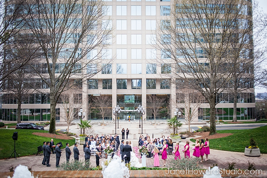 Wedding ceremony at The Georgian Club