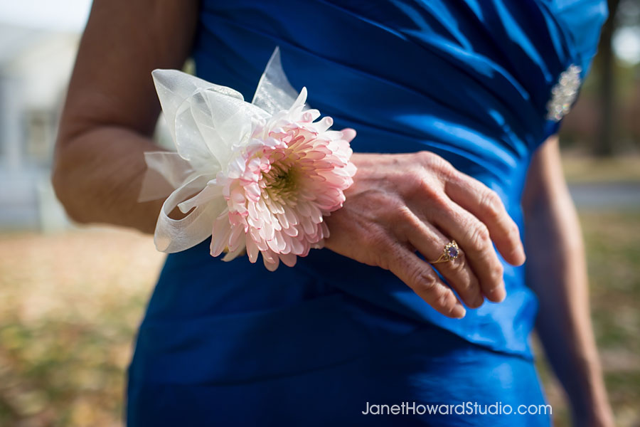 Wrist corsage by Stylish Stems
