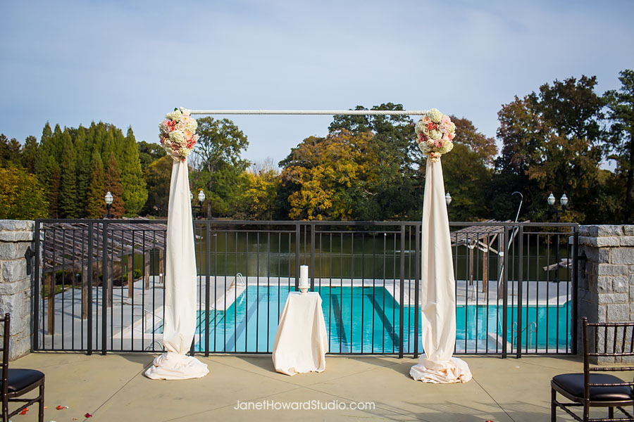 Wedding ceremony at Greystone at Piedmont Park