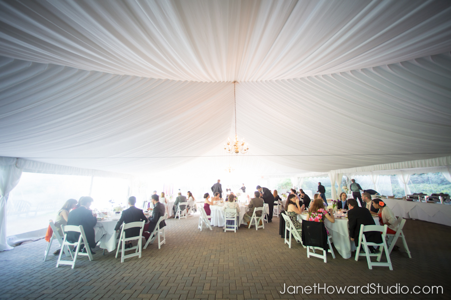 Wedding tent at Canoe Atlanta