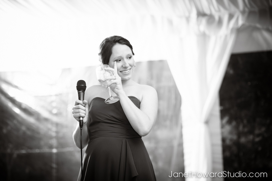 Wedding toasts at Canoe Atlanta