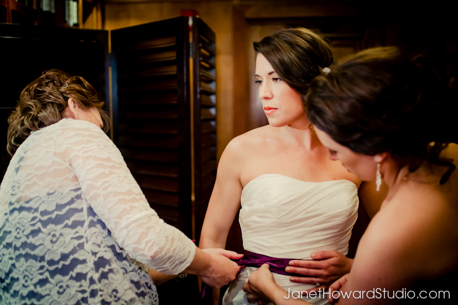 Bride getting ready at Canoe