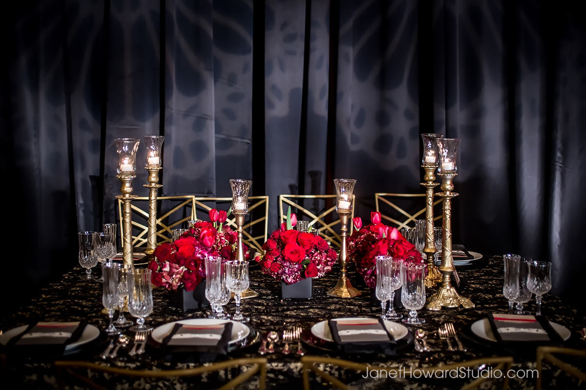 Valentino Inspired Wedding tablescape
