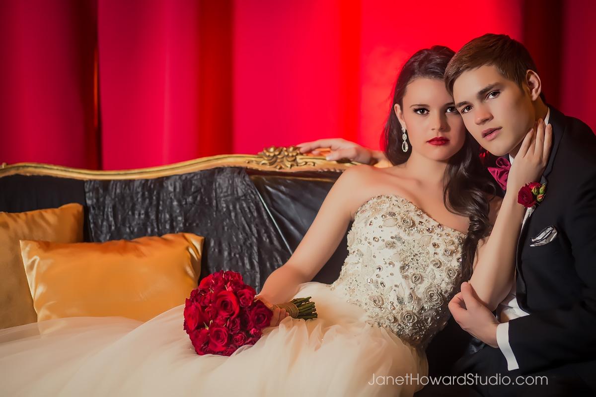 Valentino inspired wedding decor