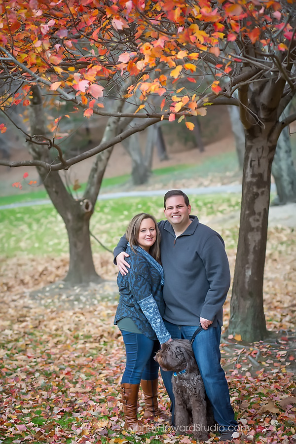 Engagement session in Lenox Park
