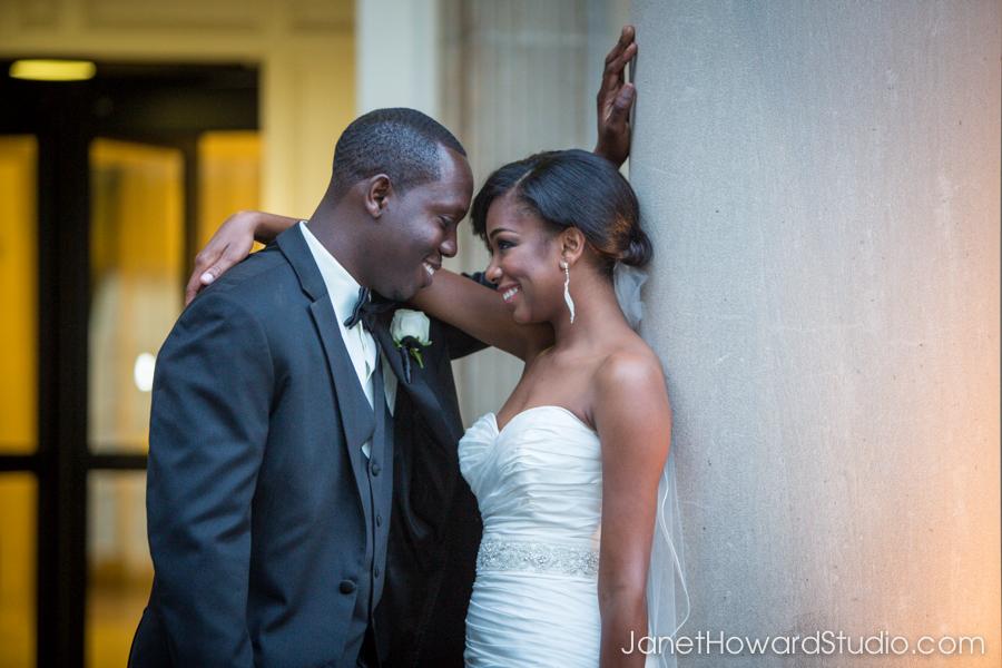 Bride and groom at the Biltmore Atlanta