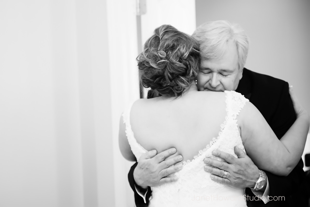 Bride + Dad first look