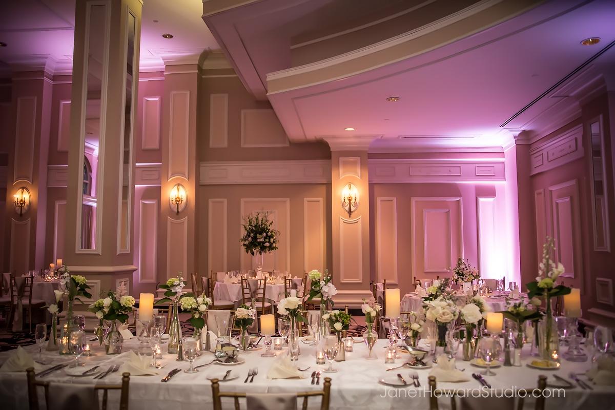 Wedding reception decor at The Georgian Terrace Atlanta