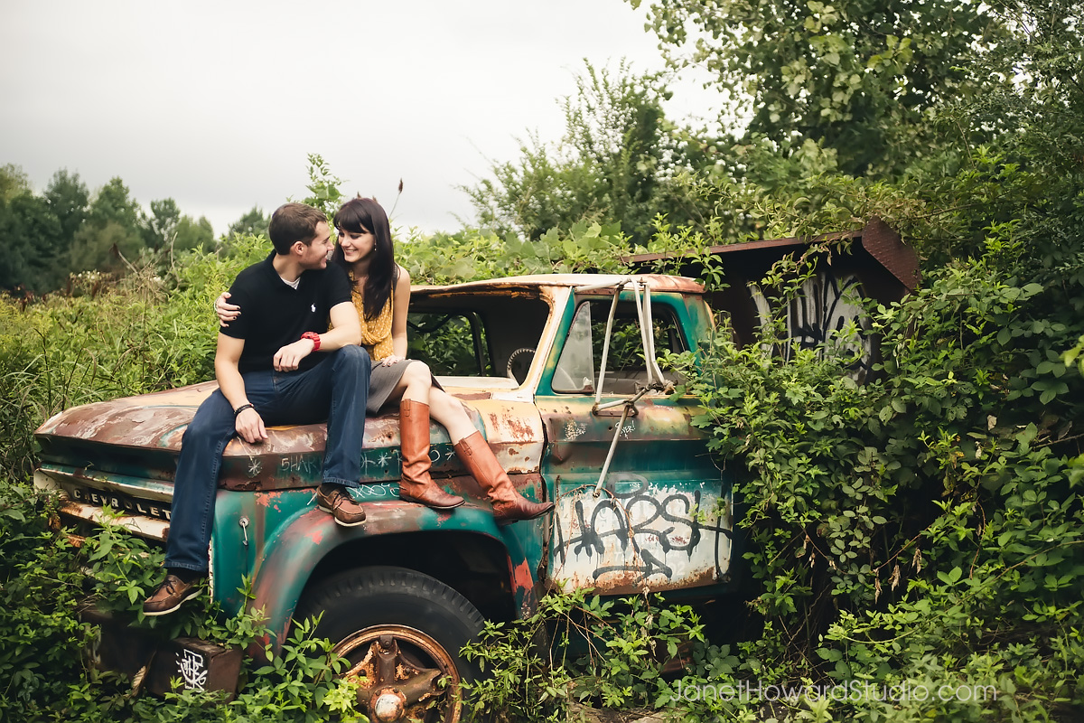 Engagement Session at the Goat Farm Atlanta