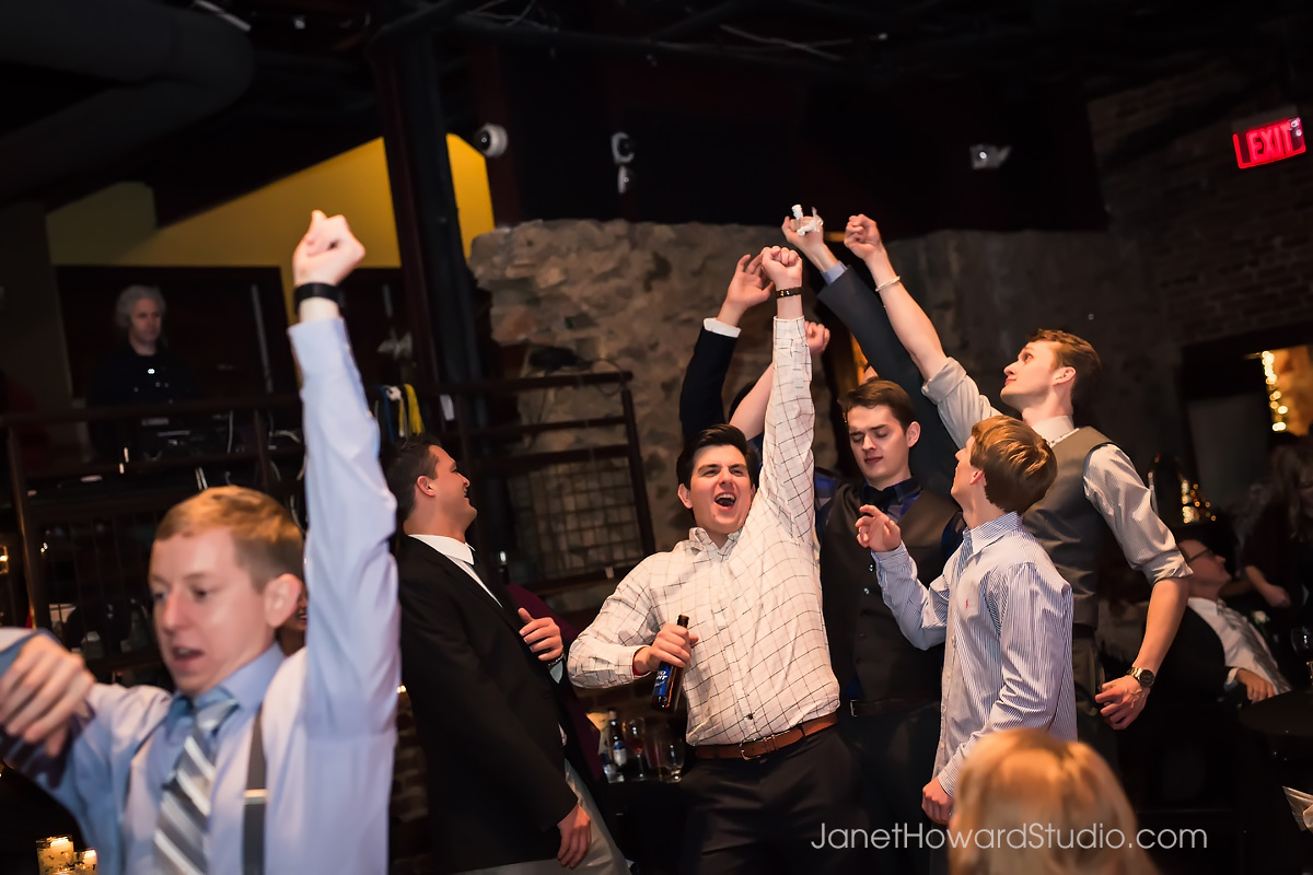 Garter toss at The Melting Point Athens GA