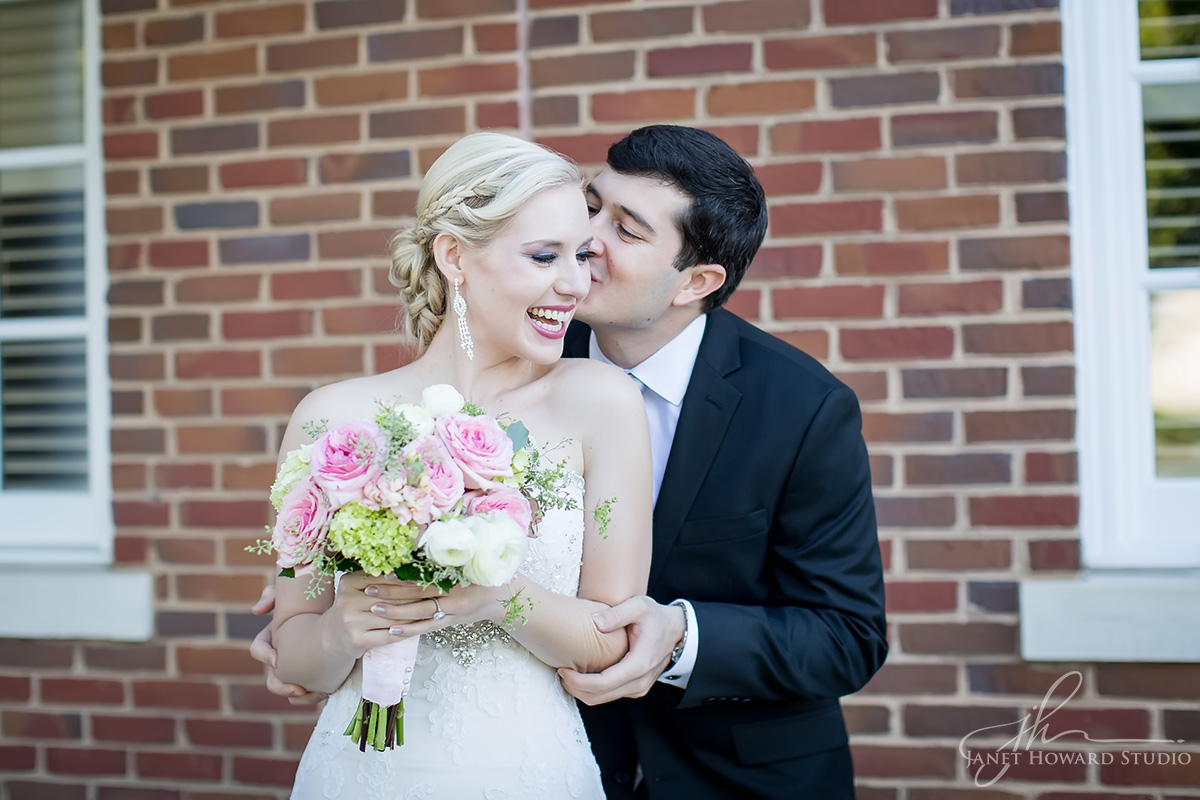Bride and Groom at First Presbyterian Marietta
