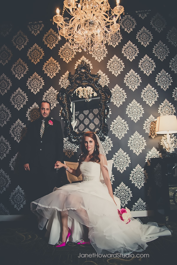 Bride + Groom at Le Bam Studio Wedding