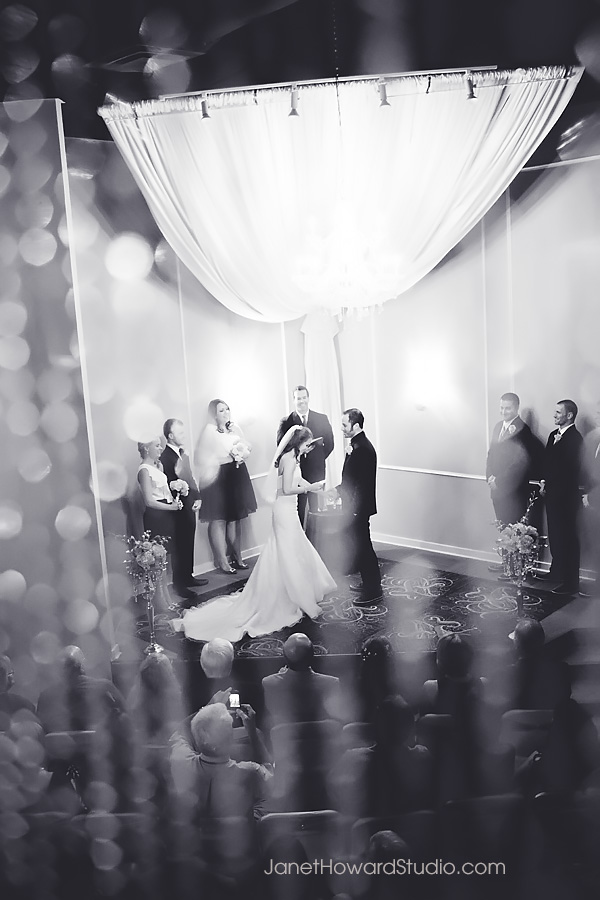 Wedding ceremony at Le Bam Studio in Atlanta