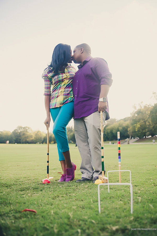 Piedmont Park croquet engagement session