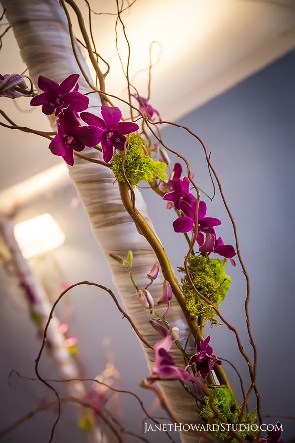 Floral orchid chuppah by Joan Rubenstein
