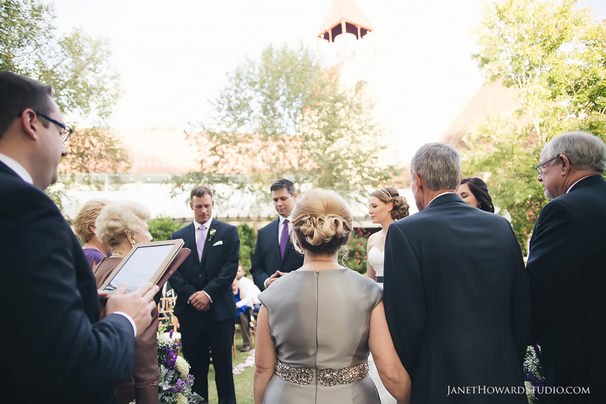 Wedding ceremony at Piedmont Garden Tent