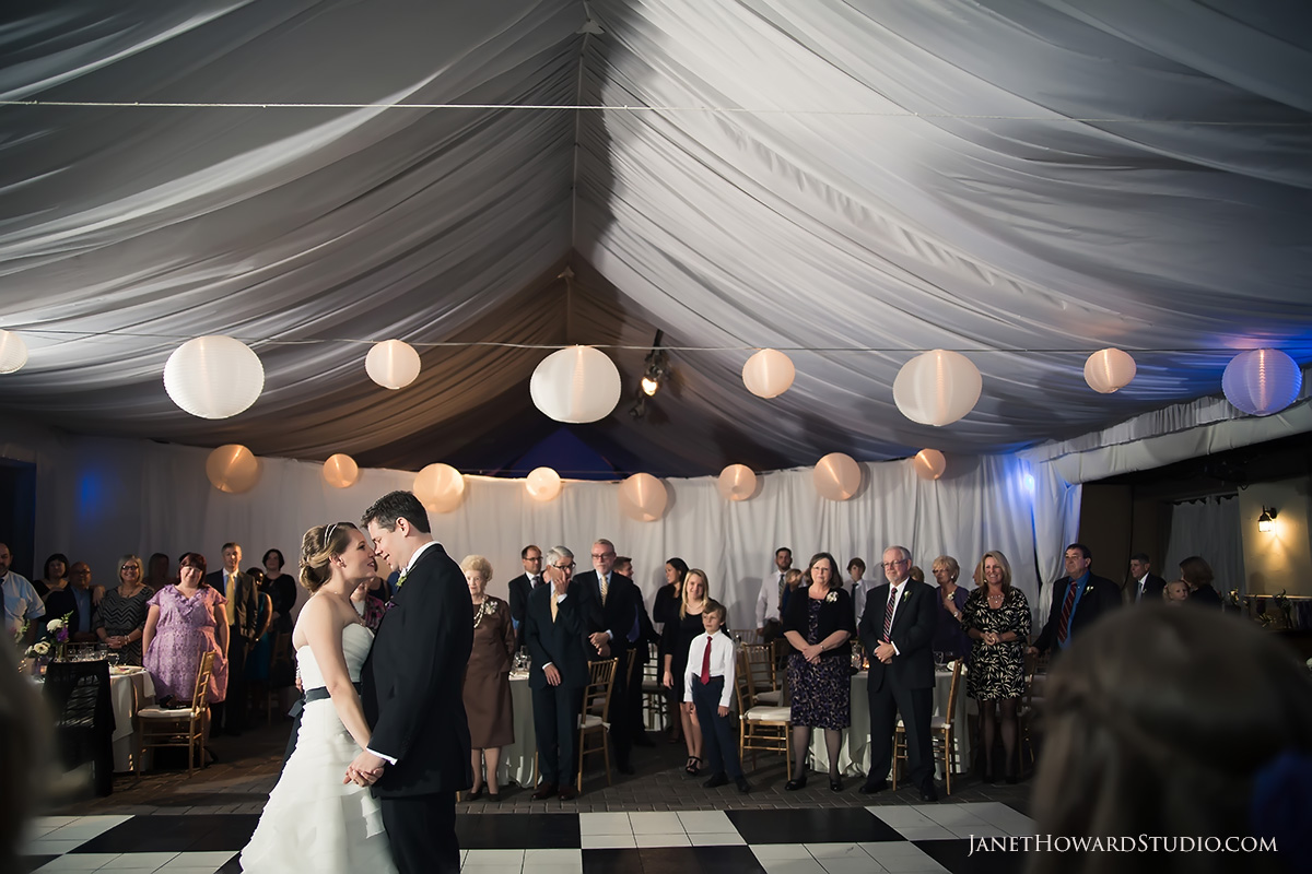 Wedding reception at Piedmont Garden Tent
