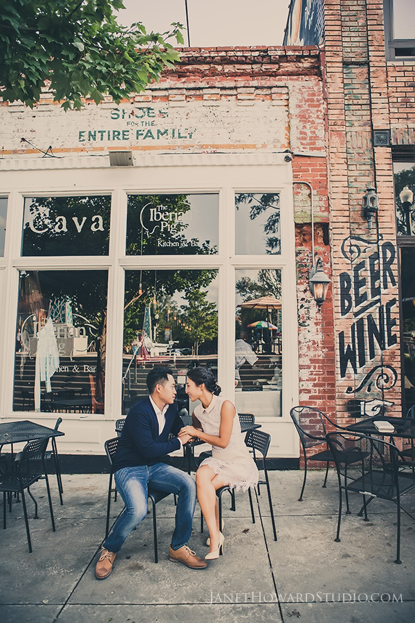 engagement portraits in Decatur Square