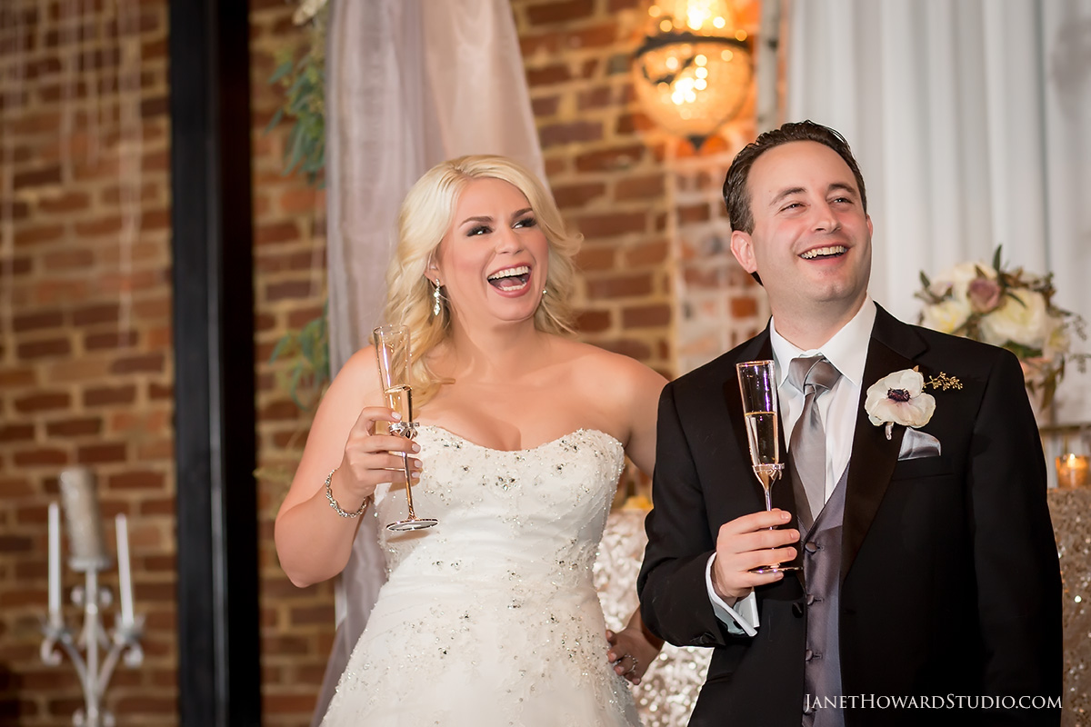 Wedding toasts at Roswell Historic Cottage