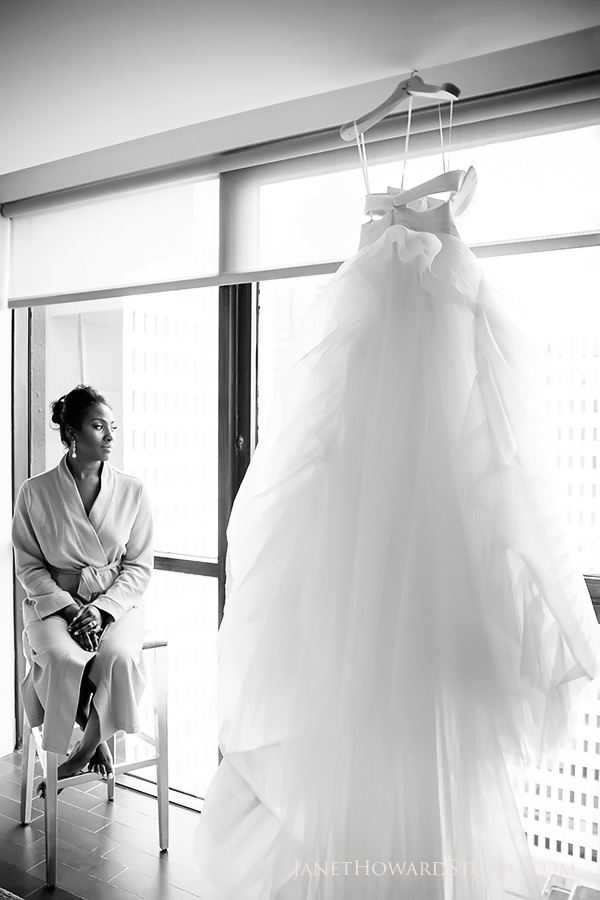 Bride getting ready at W Midtown Atlanta