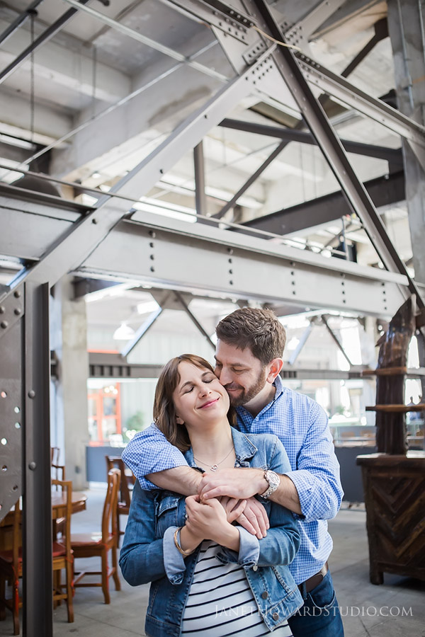 Engagement session at Ponce City Market