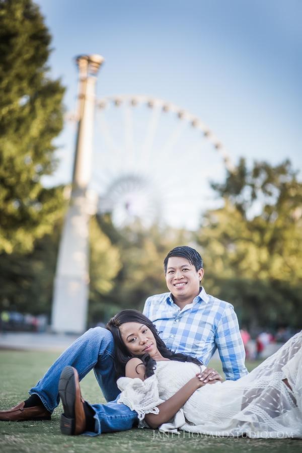 Centennial Park Engagement Portraits